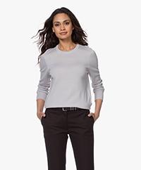 Filippa K  Merino R-neck Sweater - Sterling Grey