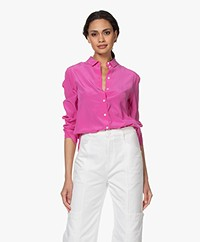 By Malene Birger Cologne Zijden Blouse  - Vibrant Pink