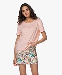 Josephine & Co Bia Linen T-shirt - Light Pink