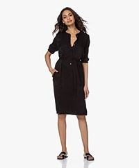 by-bar Bella Twill Viscose Dress - Black