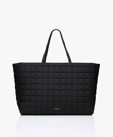 By Malene Birger Lulin Oversized Quilted Shopper - Black