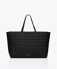 By Malene Birger Lulin Oversized Doorgestikte Shopper - Zwart