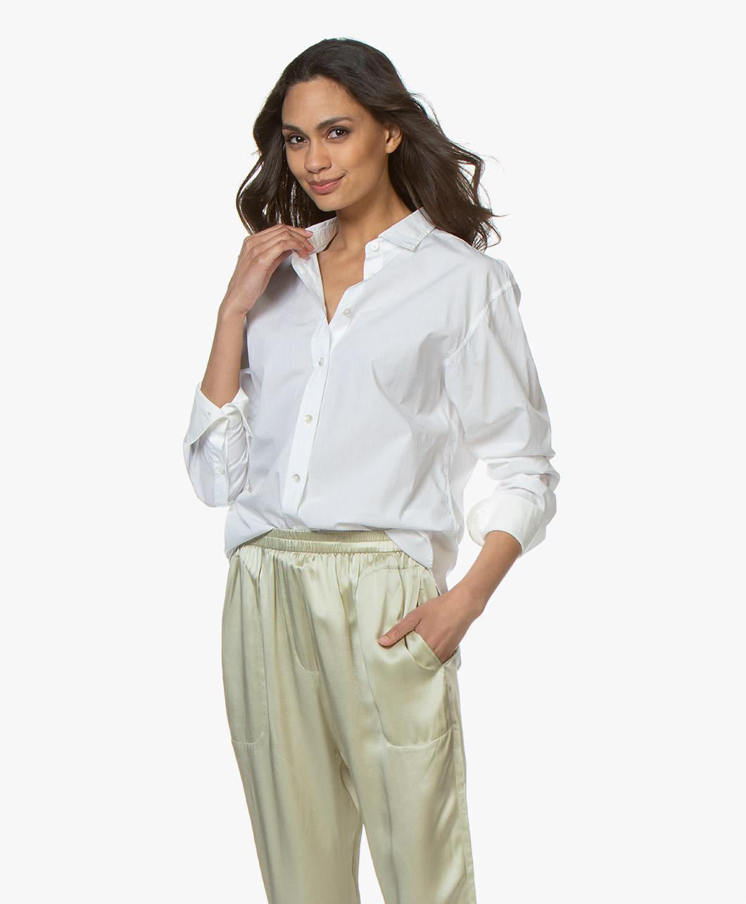 Afbeelding van Closed Blouse Lilo Katoenen Poplin Overhemd in Wit
