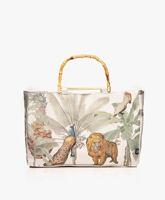 &Klevering Jungle Lion Shopper - Off-white