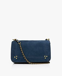 Jerome Dreyfuss Bobi Schouder/Cross-body Tas in Nubuck Kalfsleer - Marine