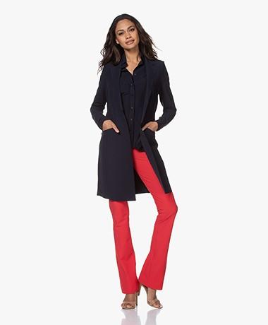 JapanTKY Luna Lange Jersey Blazer - Zwartblauw
