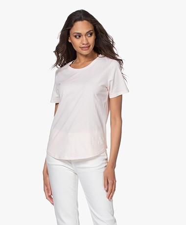 no man's land Basic Cotton T-Shirt - Pink Blush