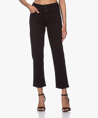 Closed Glow Straight Cropped Jeans - Zwart