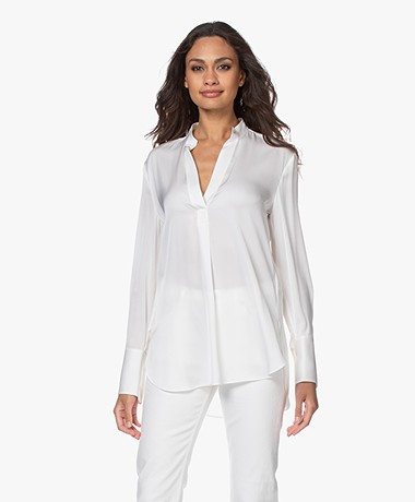 By Malene Birger Mabillon Silk Blouse - Soft White