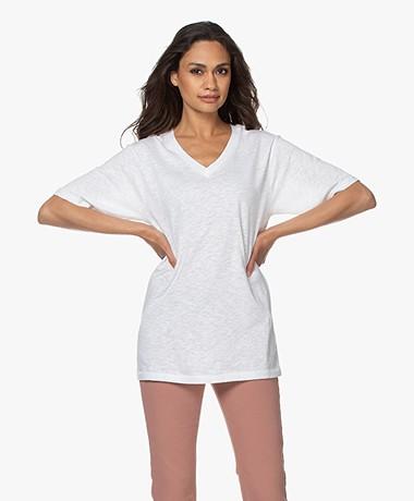 American Vintage Comiwood Linen T-Shirt - White
