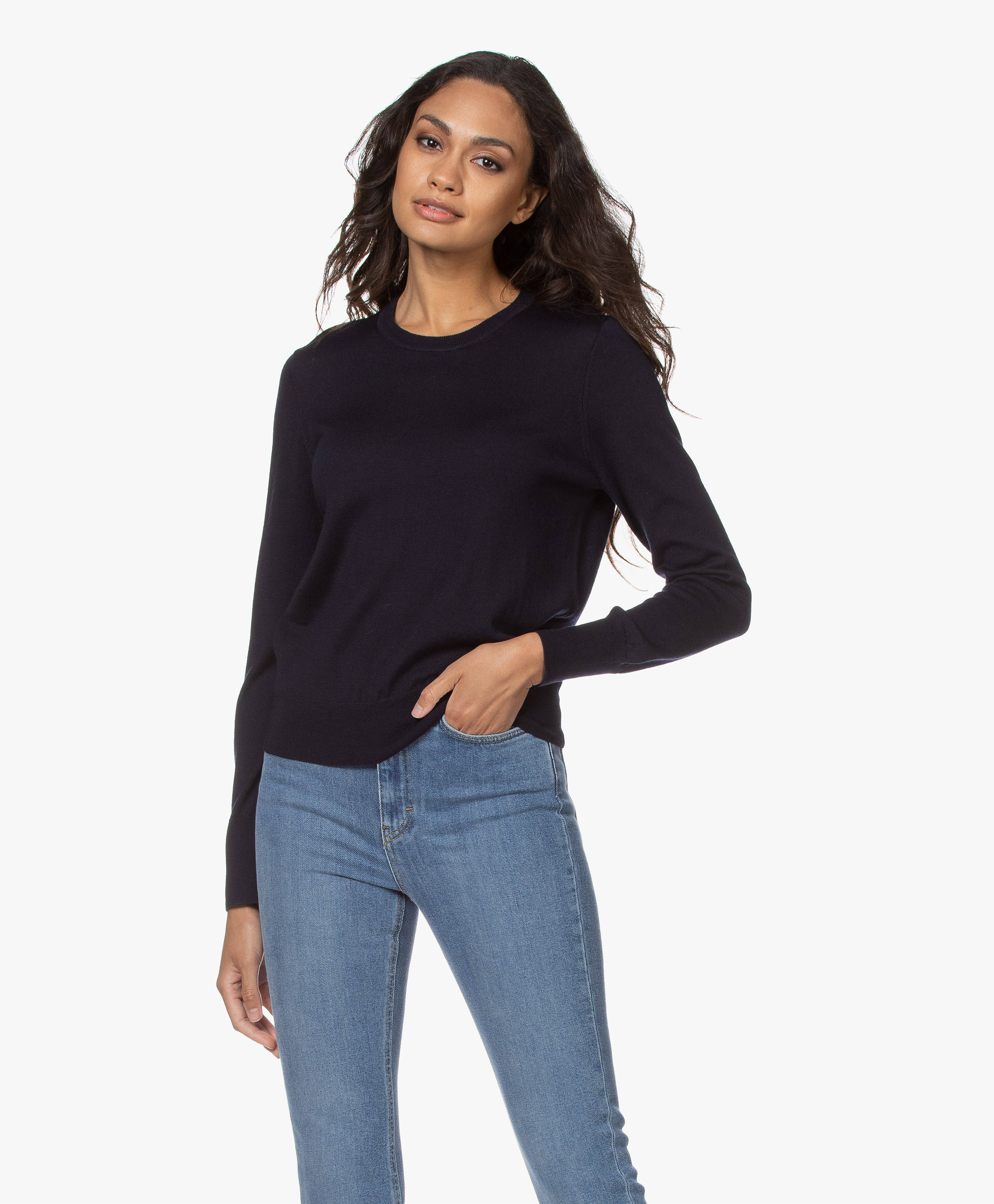 filippa k button rib pullover