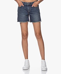 Current/Elliot The Boyfriend Rolled Shorts - Blue 1 Year Worn