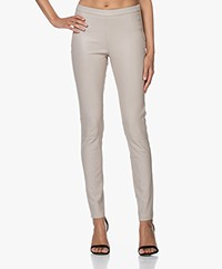LaSalle Leather Slim-fit Pants - Beige