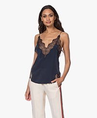 Zadig & Voltaire Crush Silk Lace Camisole - Myrtille