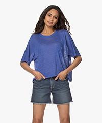 Pomandère Oversized Linen T-shirt - Lavender