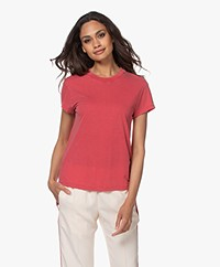 IRO Coolah Lyocell Mix T-shirt - Poppy Red