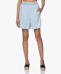 Drykorn Sweetie Twill Wide Leg Shorts - Light Denim