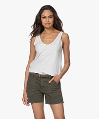 Drykorn Saimi Cotton Jersey Tank Top - Off-white