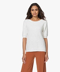 Josephine & Co Boudy Slub Cotton Sweater - White