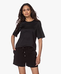 Filippa K Silk Tee - Black