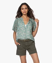 by-bar Bo Garden Chiffon Blouse - Evergreen