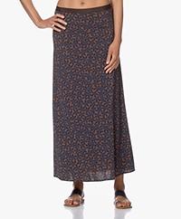 SIYU Maun Tech Jersey Print Maxi Skirt - Brown/Black/Blue