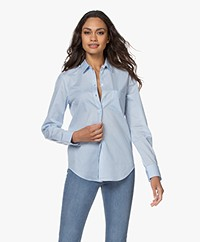 Filippa K Classic Stretch Blouse - Lichtblauw