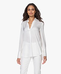 By Malene Birger Mabillon Zijden Blouse - Soft White