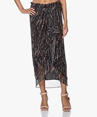 IRO Aubagna Printed Midi Skirt with Lurex - Multi-color