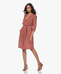 MKT Studio Ruben Striped Shirt Dress - Caramel