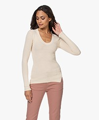 By Malene Birger Bonamia Textured Fine Knit Sweater - Peach