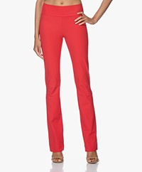 JapanTKY Zaya Flared Travel Jersey Pants - Japanese Red