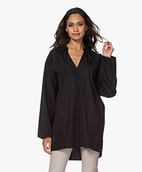 Filippa K Soft Sport Cotton Beach Tunic Shirt - Black