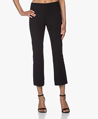 JapanTKY Kaya Travel Jersey Cropped Flared Pants - Black