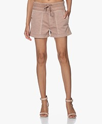 James Perse Military Slub-cotton Shorts - Pink Heart