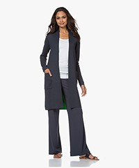 Kyra & Ko Lison Two-tone Half-length Open Cardigan - Graphite