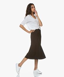 By Malene Birger Cintia Crepe Jersey Midi Skirt - Black
