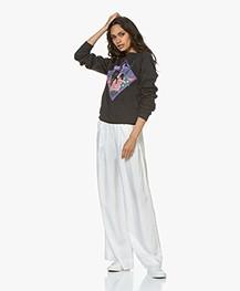 Ragdoll LA Sweatshirt With Horse Print - Washed Black/Multicolor