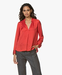 Zadig & Voltaire Tink Japanese Satin Blouse - Passion