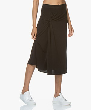By Malene Birger Cintia Crepe Jersey Midi Skirt - Black
