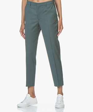 Filippa K Emma Cropped Cool Wool Pantalon - River