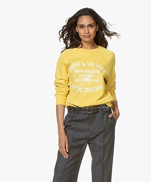 Zadig & Voltaire Upper Blason Logo Sweatshirt - Bouton D'or