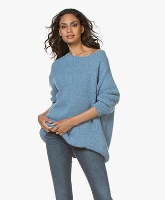 American Vintage Boolder Oversized Pullover - Sky Blue