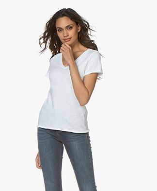 American Vintage Sonoma Slub Jersey T-shirt - Wit