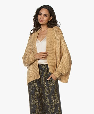 forte_forte Silk Blend Short Open Cardigan - Vaniglia