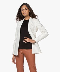 By Malene Birger Nivellah Open Pinstripe Blazer - Soft White