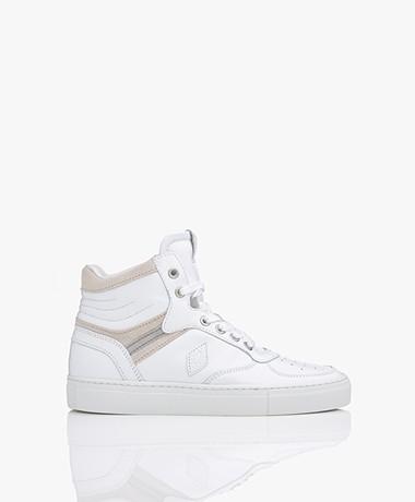 ba&sh Crush High-top Leren Sneakers - Wit