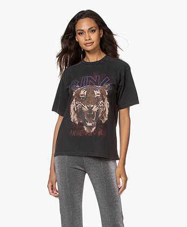 ANINE BING Tiger T-shirt - Zwart