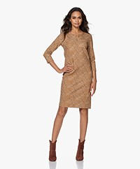 Kyra & Ko Gin Textured Jersey Print Dress - Gold Spice