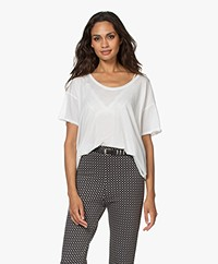 Rag & Bone The Gaia Pima Bio-katoenen T-shirt - Off-white